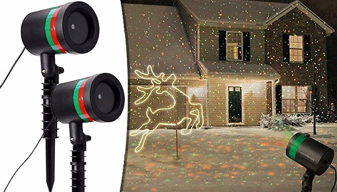 Christmas Laser Star Projector - 1 or 2 Light up your home inside and out with the Laser Star Projector      Projects with firefly point over 2000-4000 red and green dots      Has waterproof housing IP44 suitable for outdoor use      Long lawn stake for fixing securely into the ground      1m cord length to power: 100-240V, 50 / 60HZ      Works at night and then auto-switches off when detects...