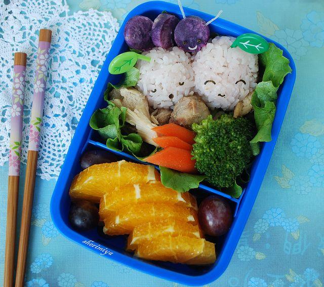 Bug on Fruit Bento by sherimiya ♥, via Flickr