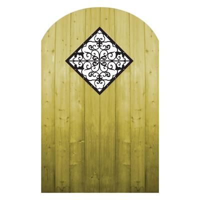 Proguard Treated Wood Gate With Decorative Insert Fp12qffg06 Home Depot Canada Wood Gate Iron Garden Gates Garden Gates