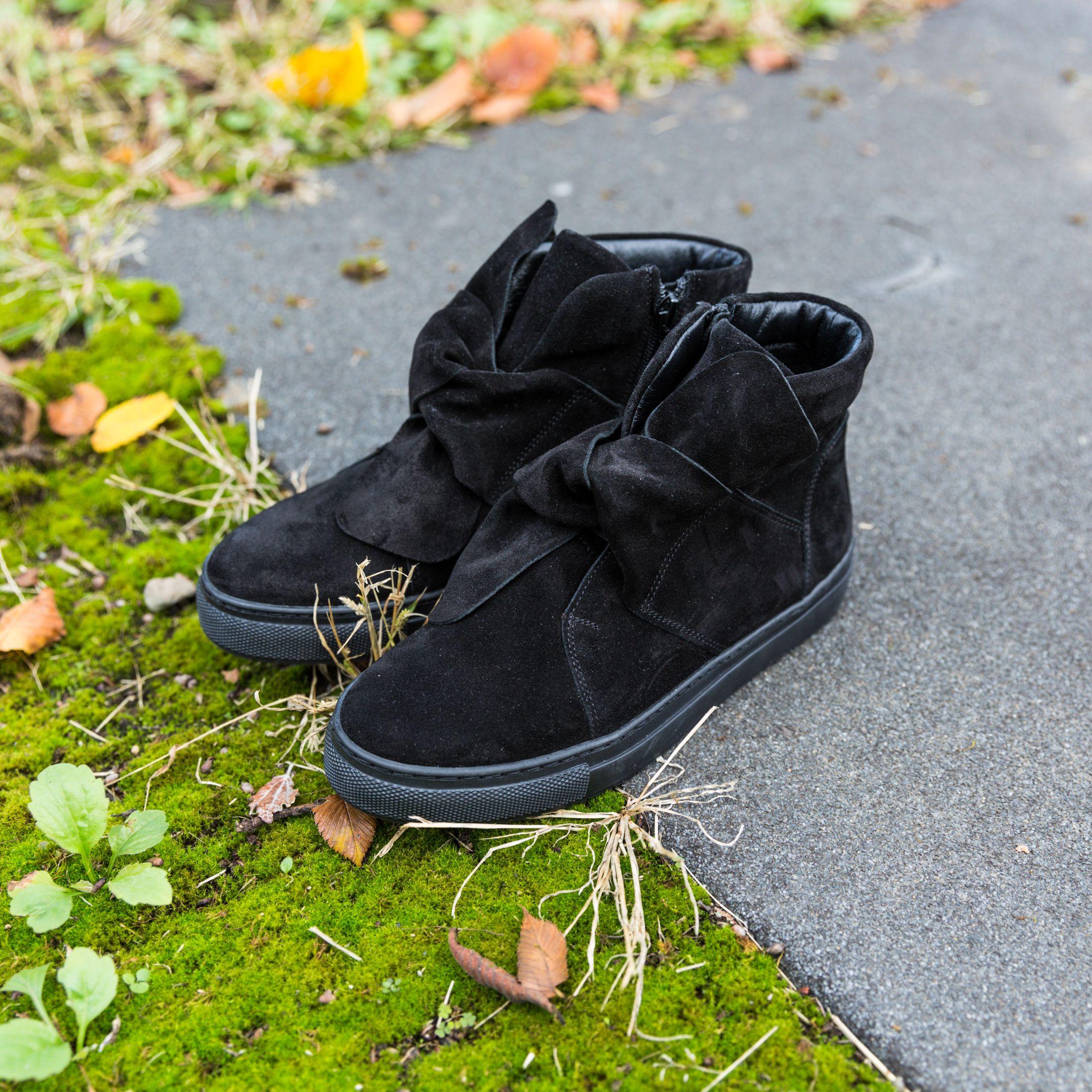 Czarne Botki Z Kokarda Bow Sneakers Shoes Puma Sneaker