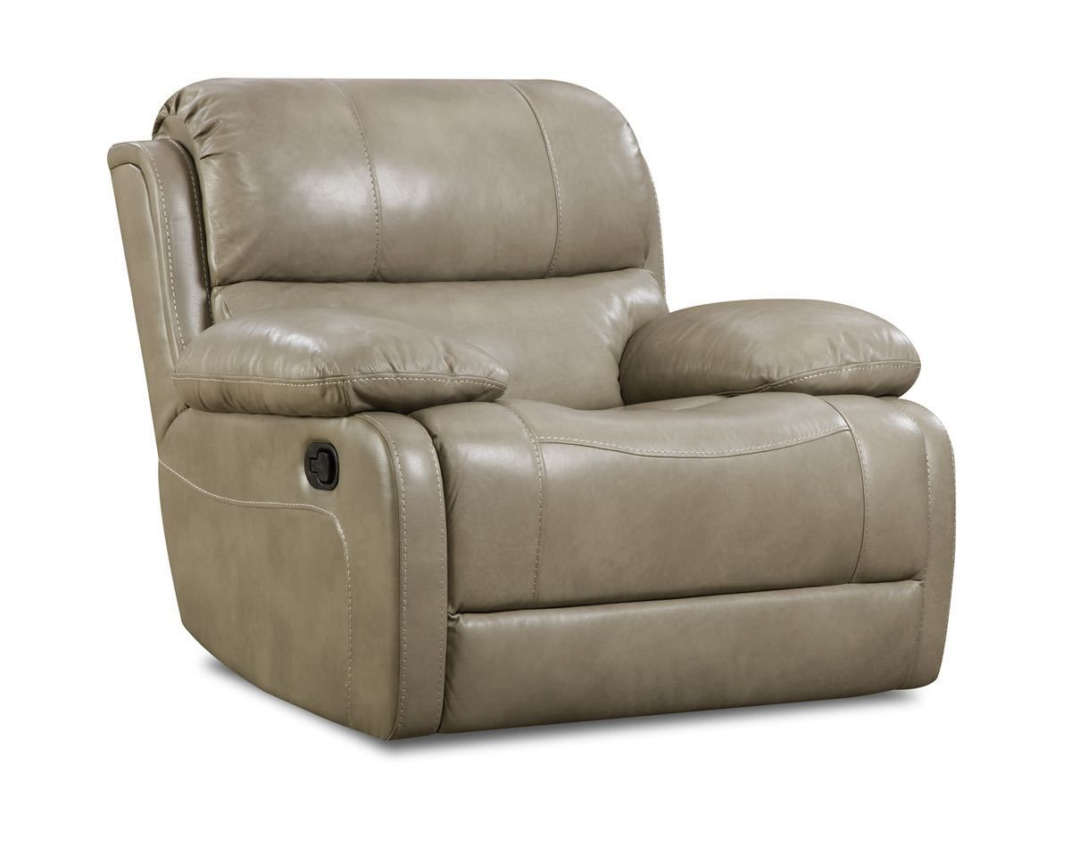 Rocker Recliner Softie Putty Top Grain Italian Leather Match By Corinthian W44 D42 H40 Furniture Recliner Rocker Recliners