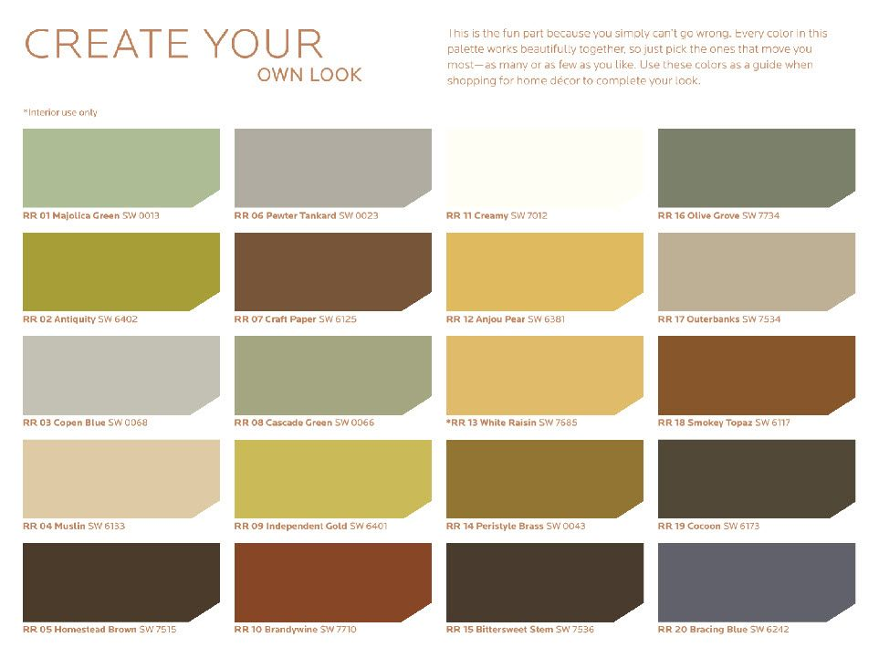Sherwin williams hgtv rustic refined palette http www for Sherwin williams paint combinations