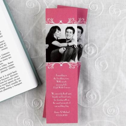 Picture Wedding Invitations | Picture Invitations - photo bookmark ...
