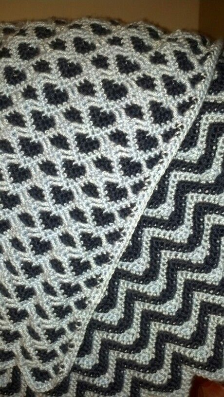 Reverse Sweetheart ripple Afghan | My Projects | Pinterest | Häkeln