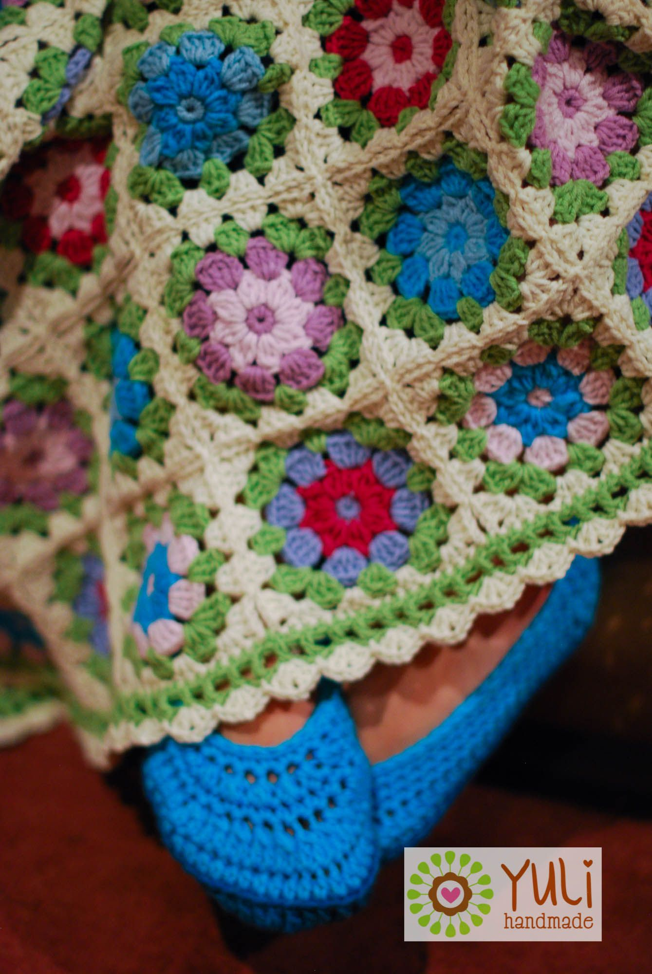 ♥ Crochet blanket forget-me-not ♥ | FORGET ME NOT | Pinterest