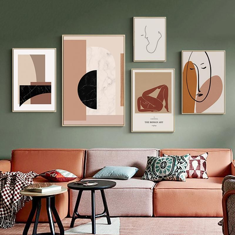 Contemporary Abstract Nordic Wall Art Canvas Prints Modern Art Posters In 2021 Wall Art Living Room Living Room Art Nordic Wall