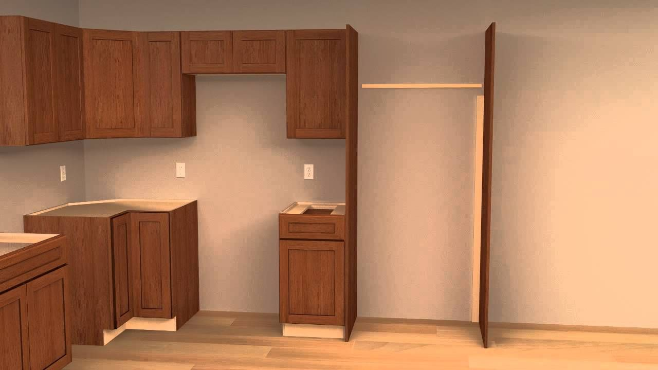 Chapter 4 Working With The Above The Refrigerator Cabinet Installing Cabinets Installing Kitchen Cabinets Kitchen Cabinet Design