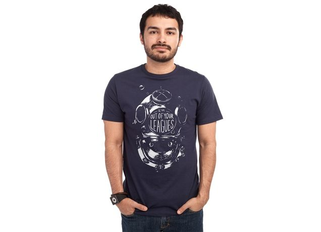 """""""I'm Out of Your Leagues"""" - Threadless.com - Best t-shirts in the world - He loves 2,000 leagues under the sea!"""