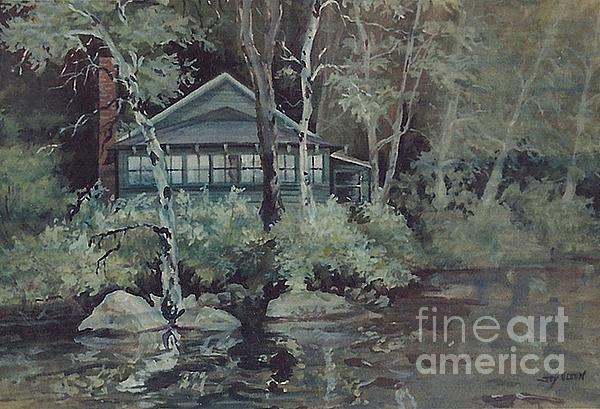 Barnstead Summer Cottage Painting
