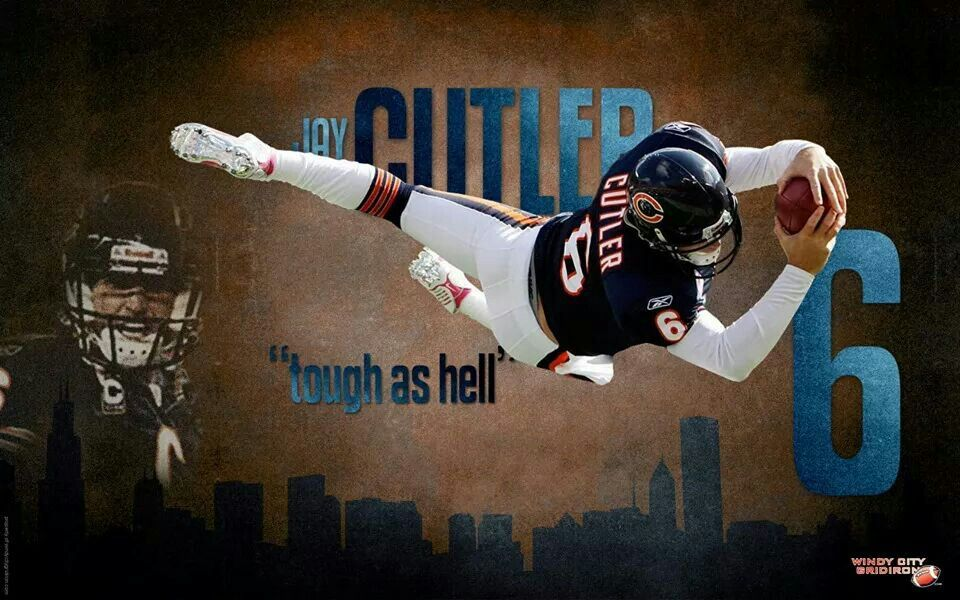 Jay Cutler Qb Chicago Bears With Images Bear Wallpaper