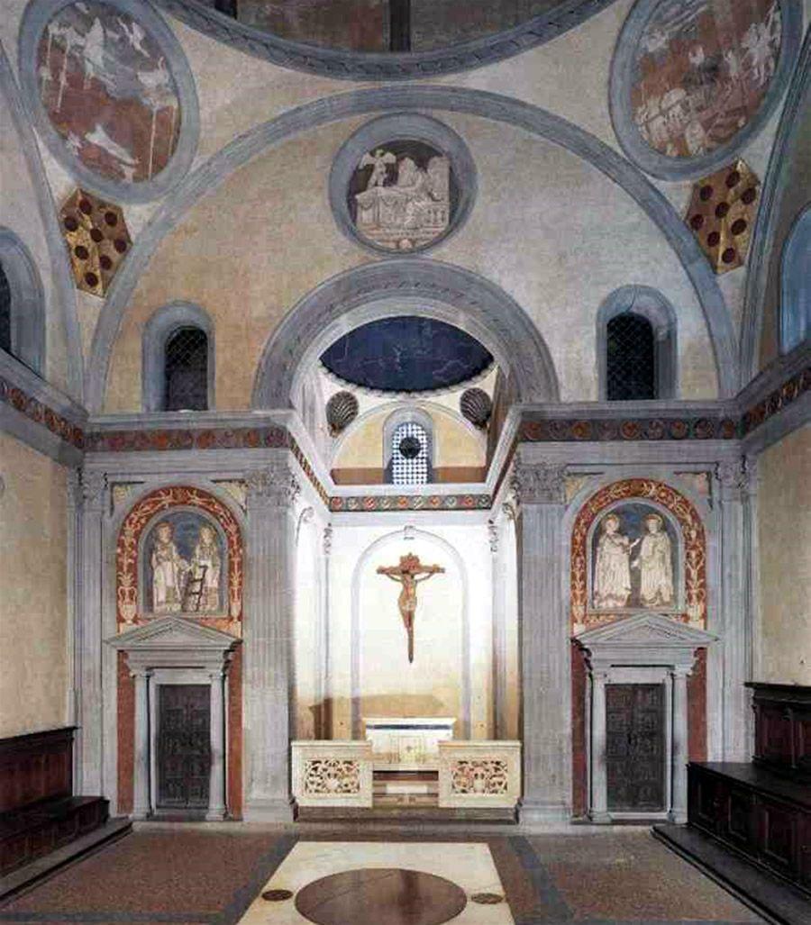 Sagrestia vecchia brunelleschi 1422 28 firenze for Sagrestia vecchia