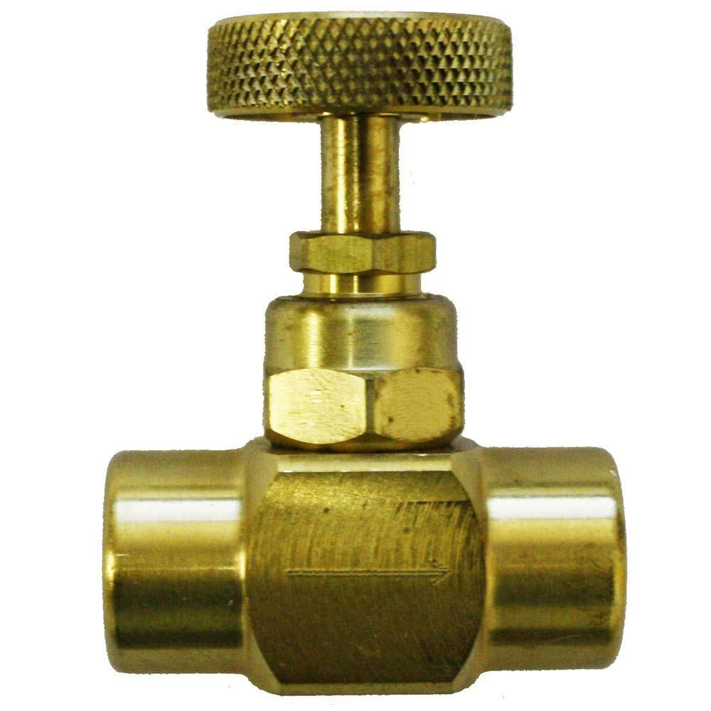 Palmer Instruments 1 4 In Npt Brass Screw On Needle Valve Water Pipes Home Depot Instruments