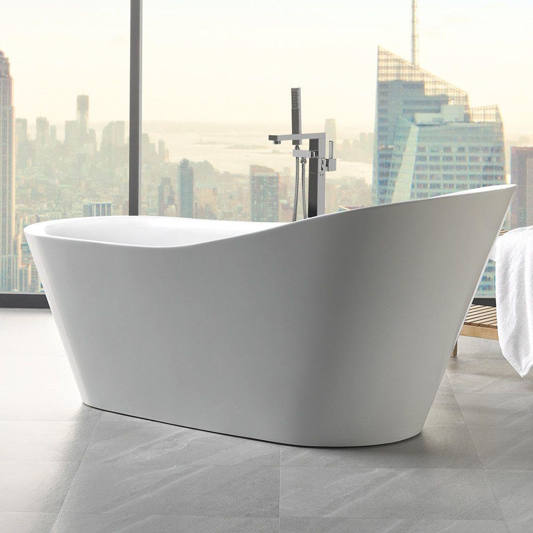 Eviva Emely Acrylic Tub 71″ Free Standing High-end Bathtub EVTB1014 ...