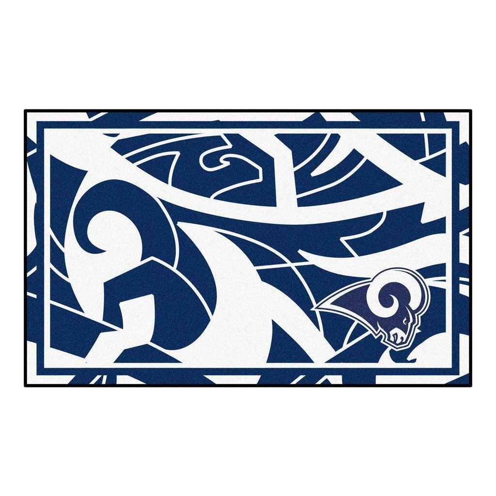 Nfl los angeles rams 4x6 rug 44x71 plush area rugs