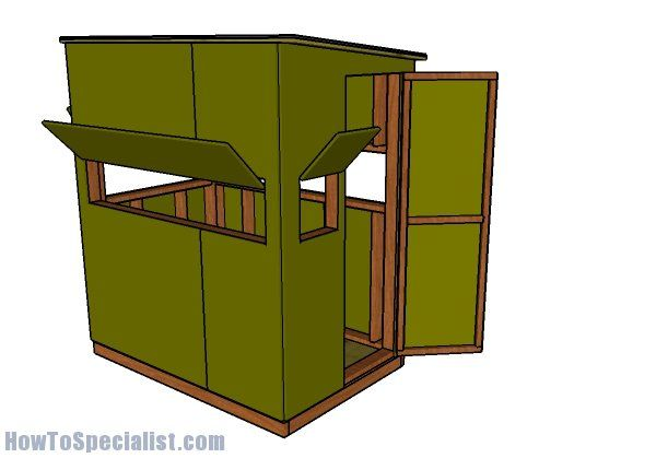 4x6 Shooting House Plans Howtospecialist How To Build Step By Step Diy Plans Shooting House Deer Blind Plans Deer Blind