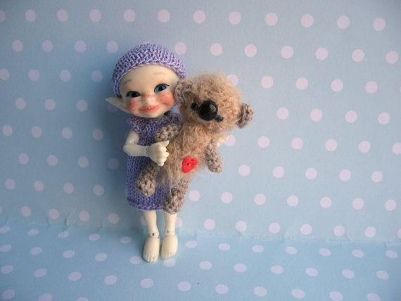 Mam-m-mis Miniaturen ...... Puppen und Teddies von Yuliya Y.   Winziges und süßes miniatur Teddy Super Spielzeug für Blythe oder BJD Puppen