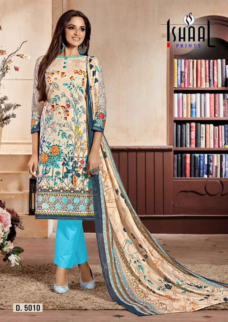 2086c7d4f1 Ishaal Prints Gulmohar Vol-7 Dress Material (10 pc catalog) Pakistani Suits