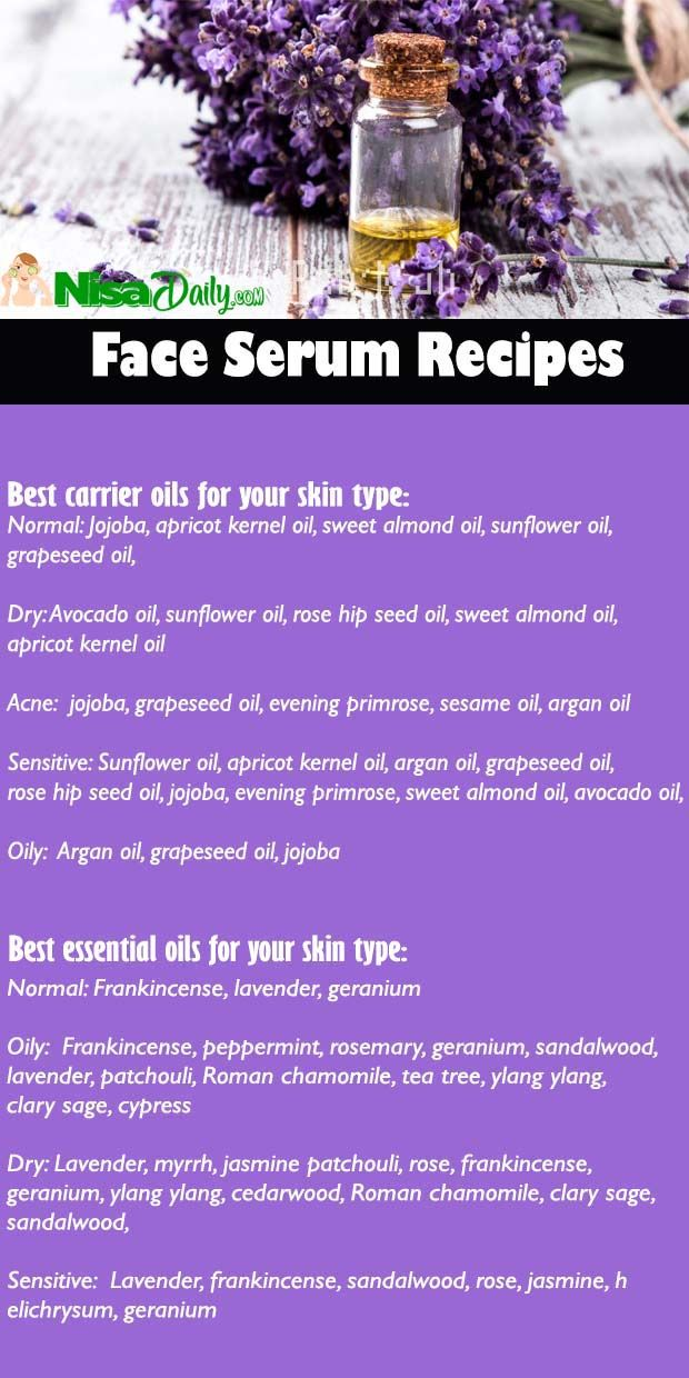 How To Make Face Serum Recipes For Dry Skin, Oily Skin, Normal Skin, Sensitive Skin?