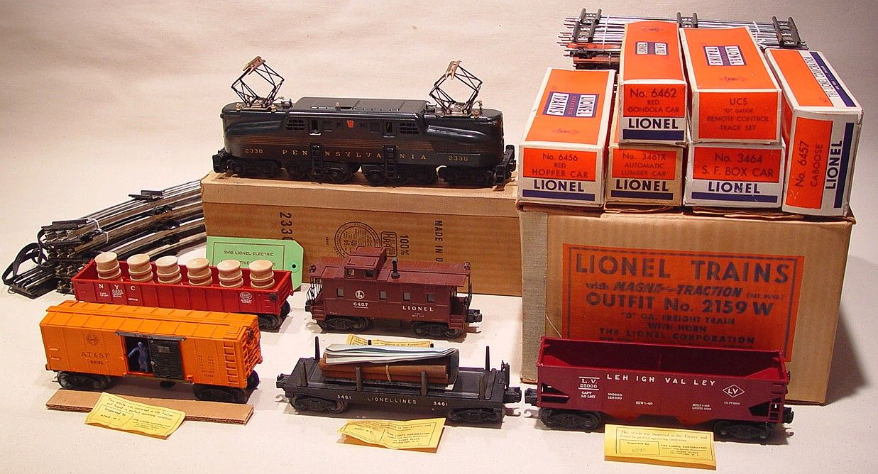 lionel no 2159 w o gauge freight train with horn jpg 1 237