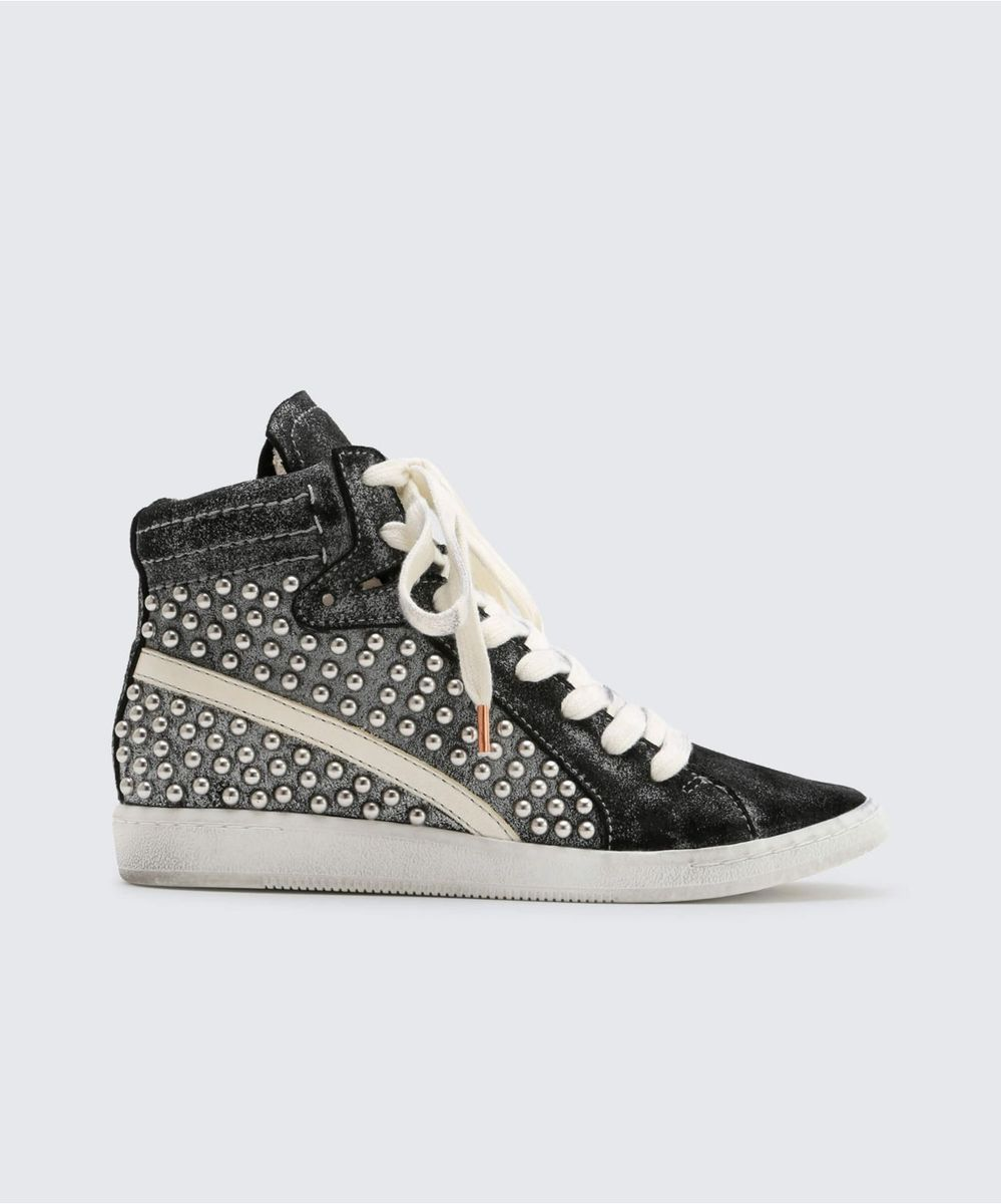 NATTY STUDDED SNEAKERS BLACK – Dolce