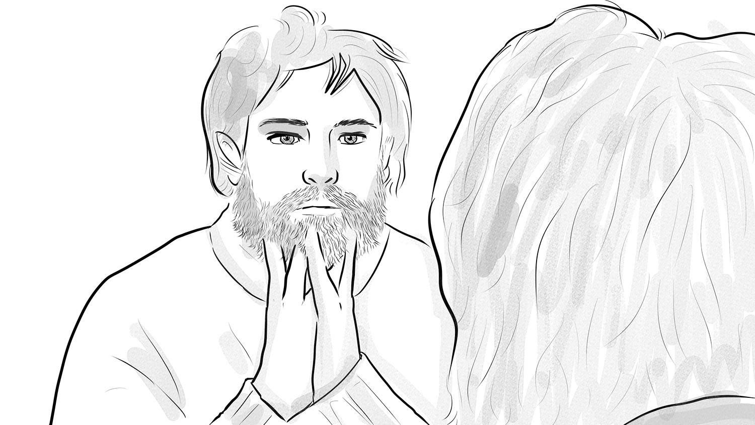 Mornings are an ideal time to brush your beard (With