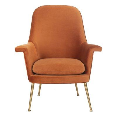 Safavieh Couture Aimee Velvet Armchair Upholstery Color Dusty