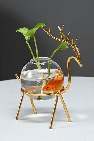 Beautiful Hydroponics Glass Flower Pot