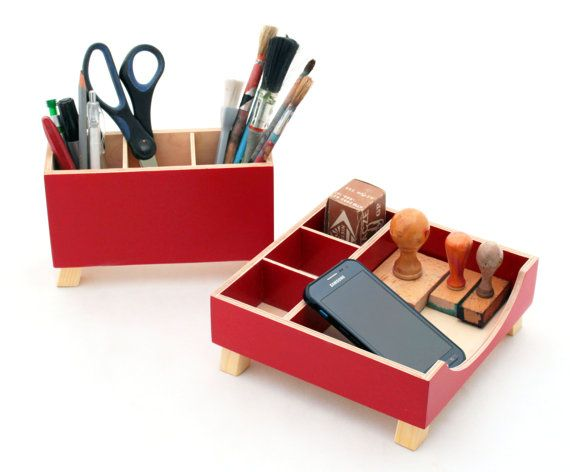 Free Shipping Desk Organizer Red Desktop Gift Ideas For Kids This Wood