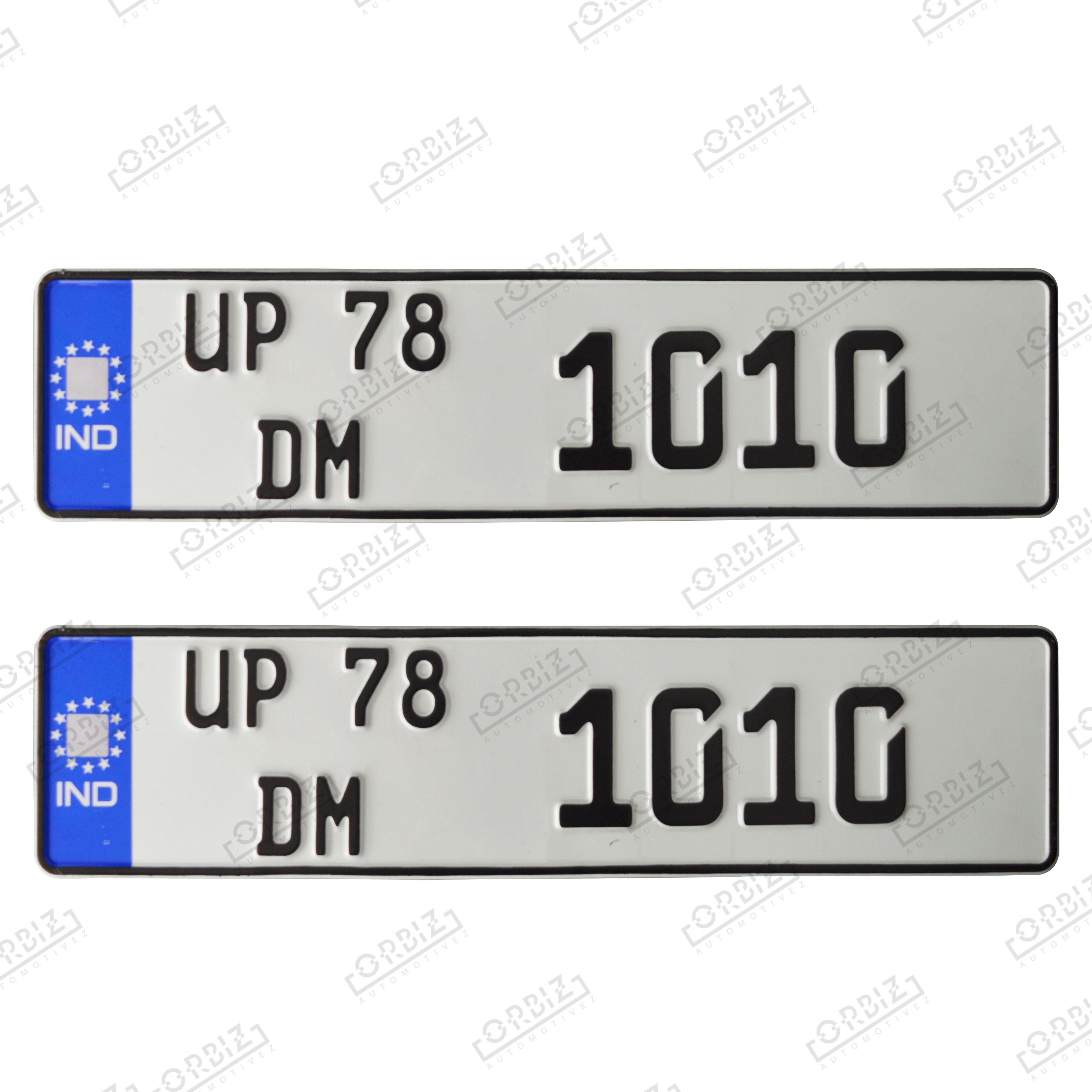 Car Number Plate Design Online Car Number Plates Number Plate