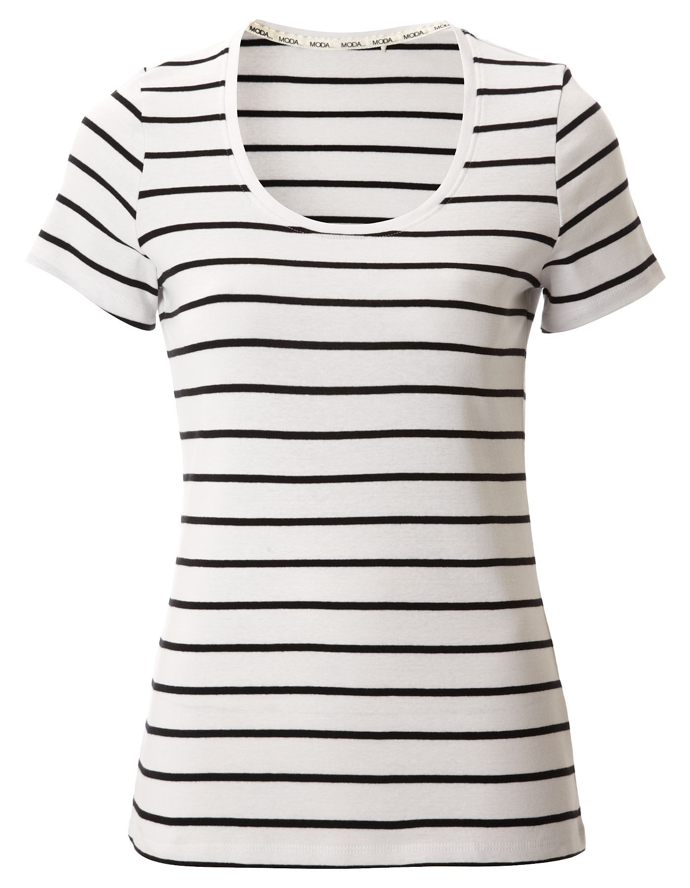 Black t shirt asda - Moda Striped T Shirt Women George At Asda