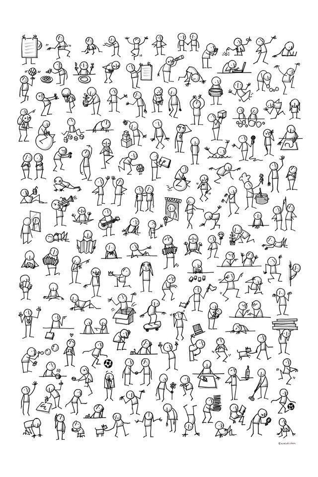 People Notas De Dibujo Dibujos Sencillos Libreta De Apuntes
