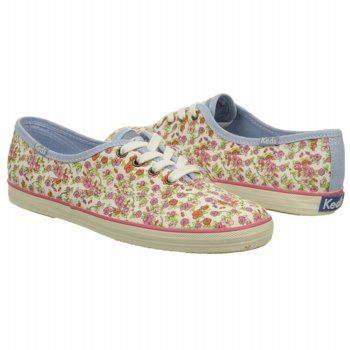 women's keds floral white twill shoes with images