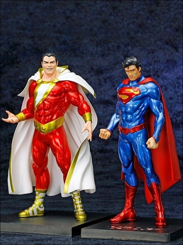 Captain Marvel Shazam Dc Science Fiction Superheroes Nerd Justice League Unlimited Comic Interior Action Figures