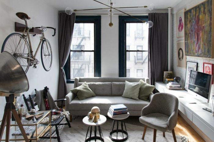▷ 1001 + Wohnzimmer Ideen für kleine Räume zum Entlehnen - Wohnzimmer Braunes Sofa