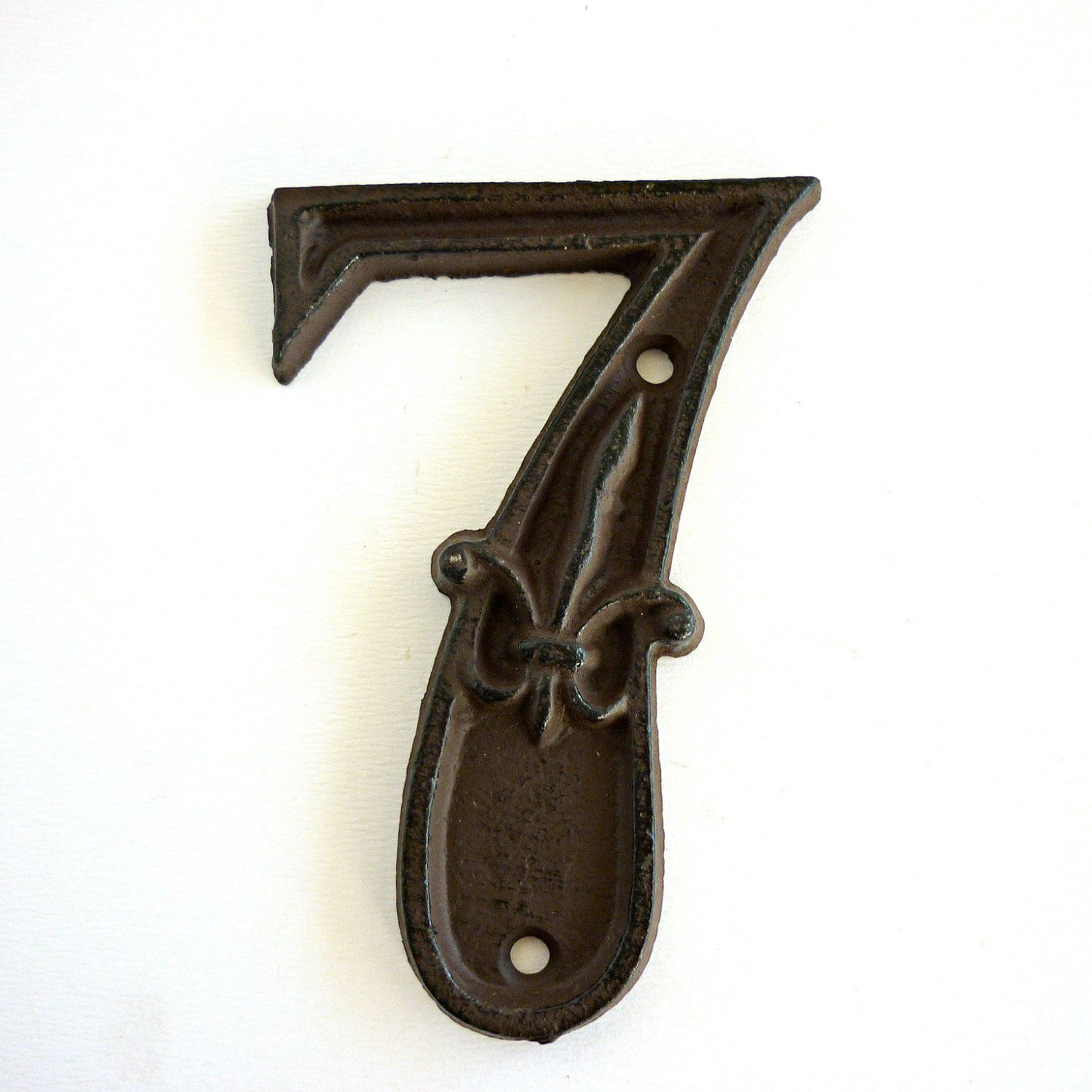 Vintage Number 7 Cast Iron! Super Cute I Need This For Our House Numbers!