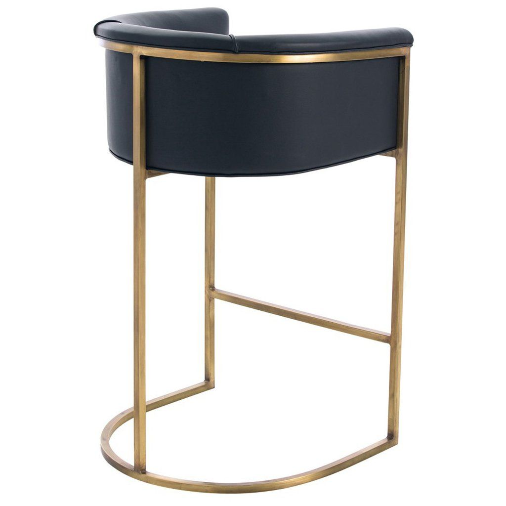 Arteriors Calvin Barstool In Antique Brass Azzurro