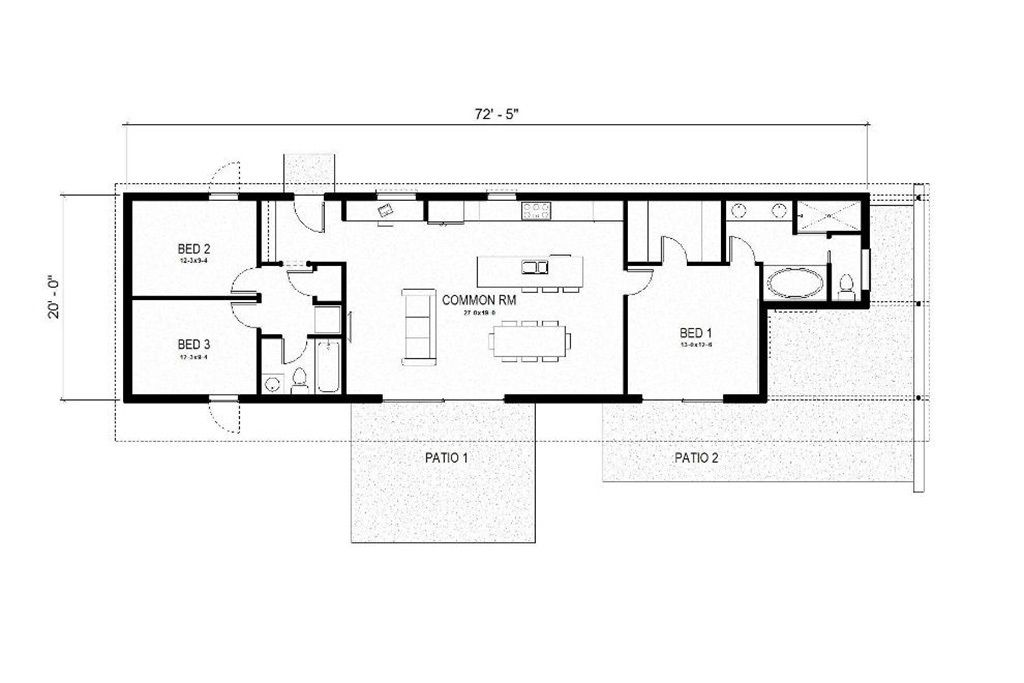 Outstanding One Story Rectangular House Plans Gallery - Best idea ...