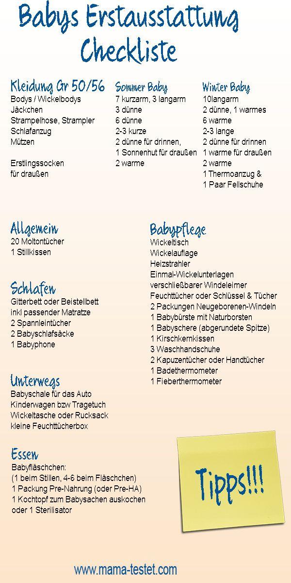 Baby erstausstattung checkliste was braucht man wirklich for Was braucht man