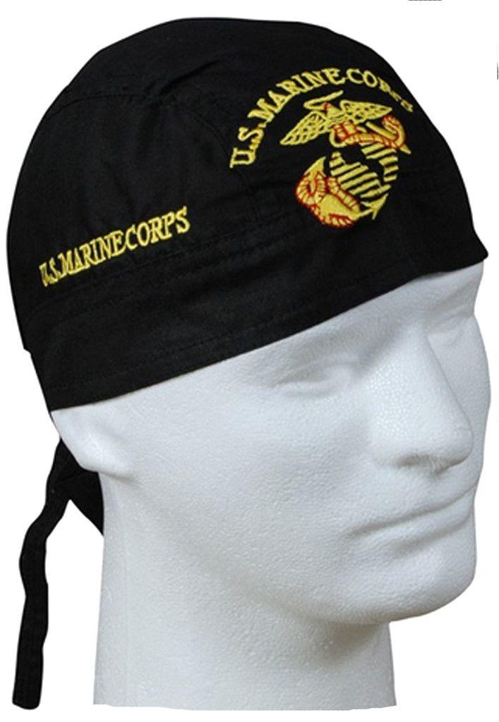 fc0694dccb8 U.S. Marine Corps Doo Rag Headwrap Military Durag Skull Cap Cotton Spo –  Buy Caps and Hats