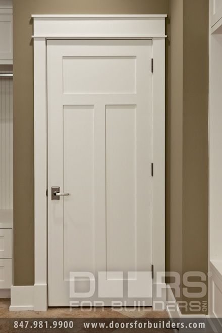Custom wood interior doors craftsman style custom for Craftsman interior details