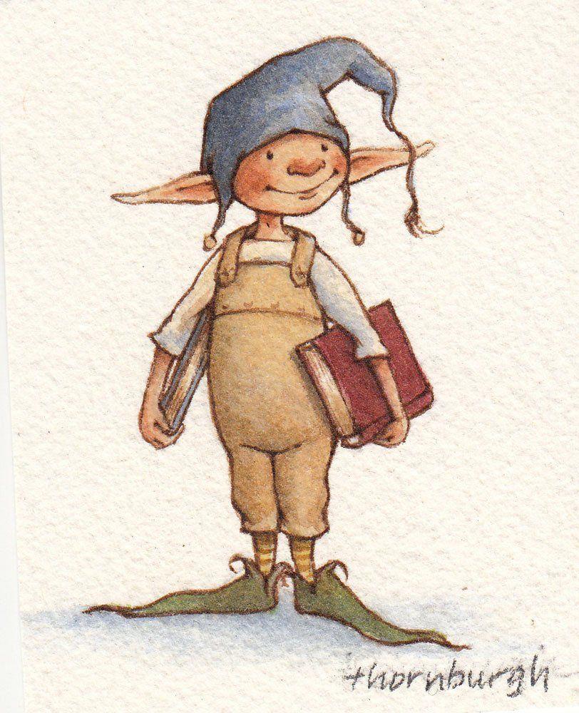 Stoffbeutel Mit Original Kunstwerken Bücherwurm Elf