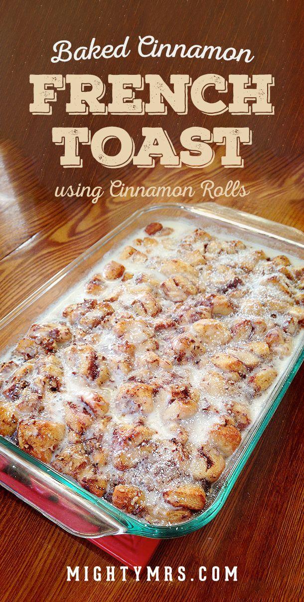 Easy Cinnamon French Toast Bake #christmasbreakfast