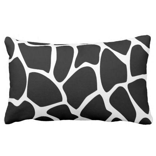 Giraffe Print Pattern. Animal Print Design, Black. Pillow  #pillows #homedecor #gifts