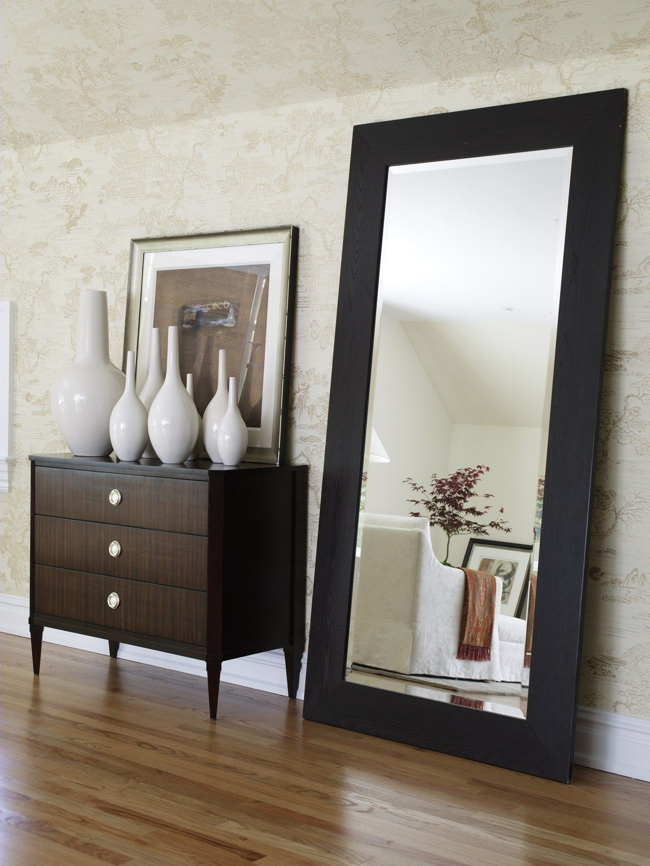 A Full Length Mirror Lets Your Guests Take That Last Look