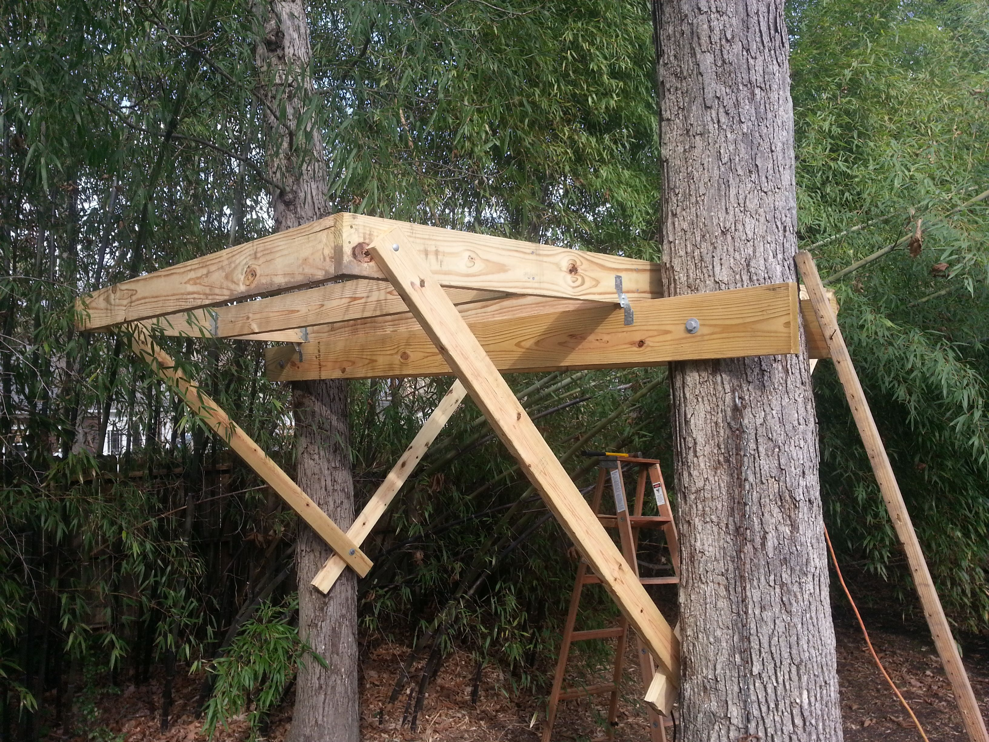 how to build a treehouse phase two the base real
