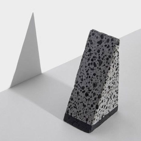 basalt desk accessories by jeonghwa seo originate from a korean island pinterest. Black Bedroom Furniture Sets. Home Design Ideas