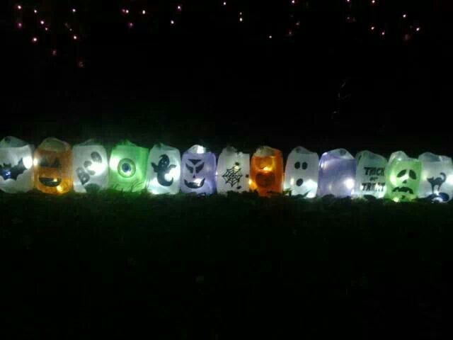 Halloween milk jugs with led lights My Halloween outdoor - halloween milk jug decorations
