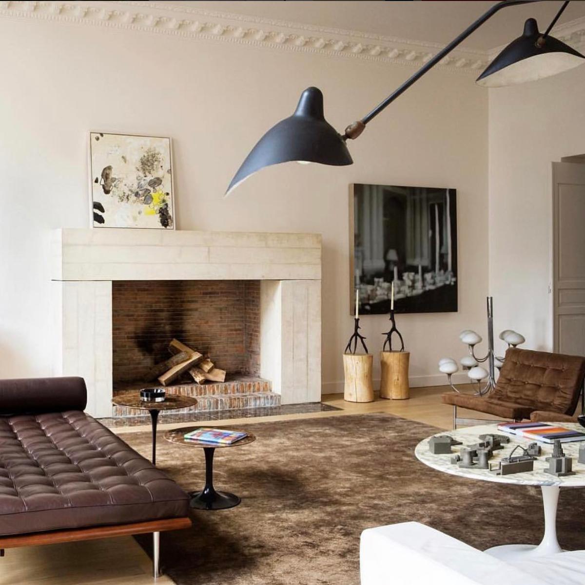 Innenarchitektur wohnzimmer für kleine wohnung ludwig mies van der rohe inspo  beleuchtung  pinterest