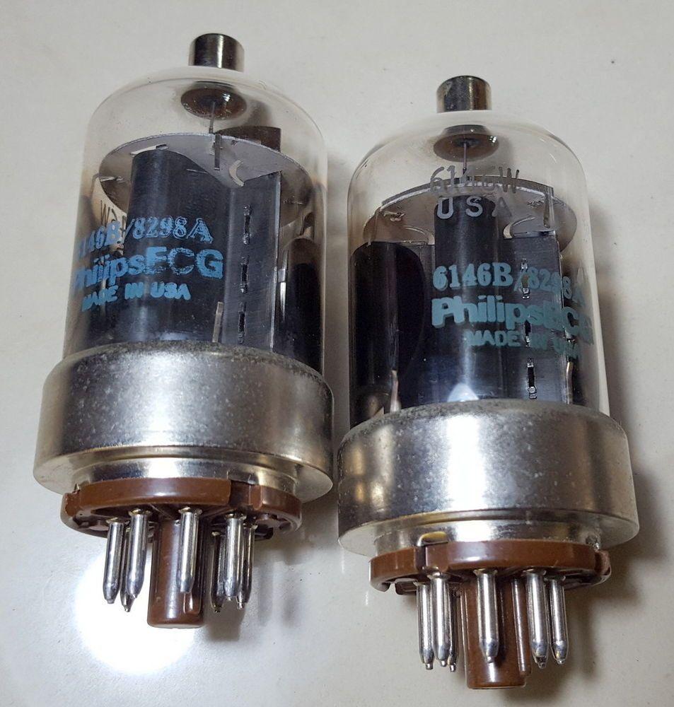 Yaesu FT-901DM Philips ECG 6146W Vintage Pair of Tubes 85