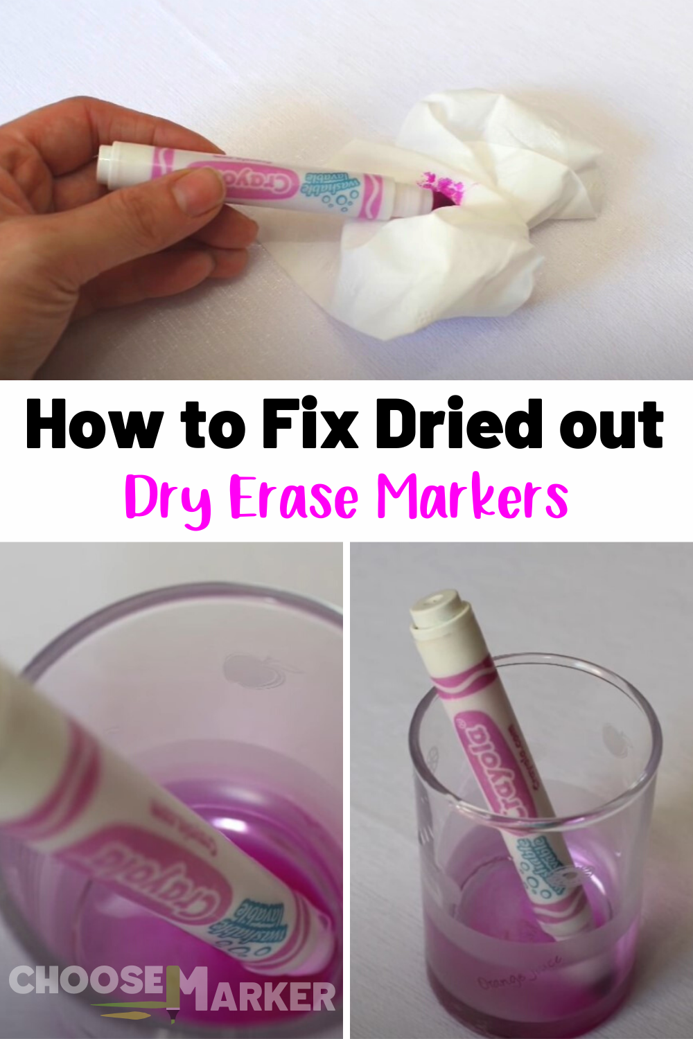 How To Fix Dried Out Dry Erase Markers Reviving Dried Out Markers Easy Steps Dry Erase Markers Markers Expo Marker
